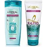 L'Oreal Paris Extraordinary Clay Shampoo, 175ml (With 10% Extra) & L'Oreal Paris Rapid Reviver Extraordinary Clay Deep Condit