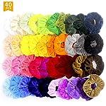 firstfly 40 Pcs Premium Velvet Hair Scrunchies Hair Bands Scrunchy Hair Ties Ropes Scrunchie for Women or Girls Kids Hair...