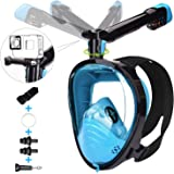 LEMEGO Máscara de Buceo Adulto Mascara Snorkel 180° Panorámica con Snorkel Giratorio 360 ° Anti-Niebla y Anti-Fugas Easybreat