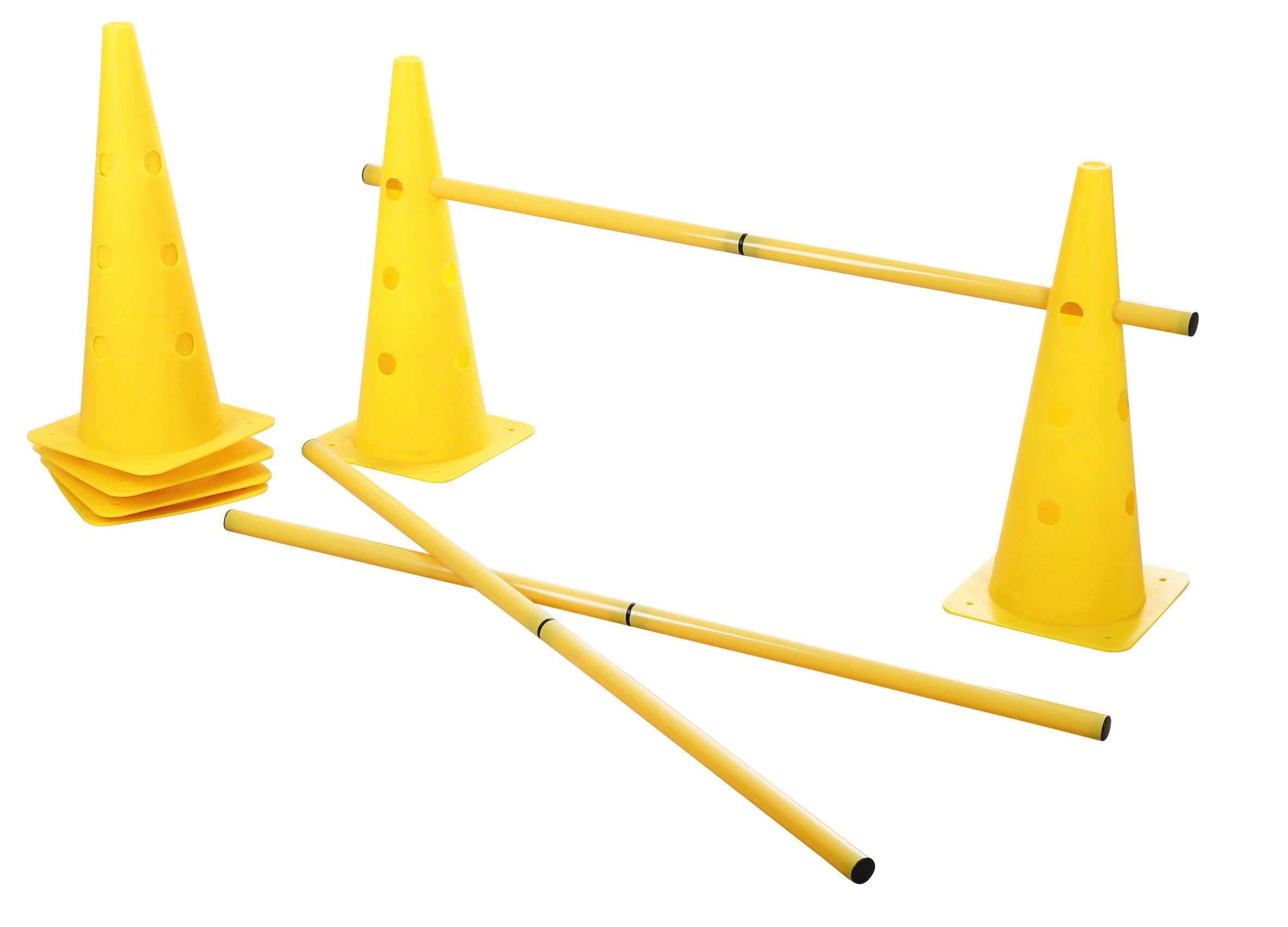 Kerbl Agility Cone-Three Hurdle Set, Yellow