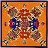 TIANLU Simulazione asciugamano strettamente silenziosa, Sciarpa Sciarpa%seta arancione,Cm