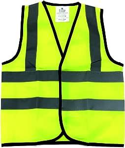 Warnweste Für Kinder Hohe Sichtbarkeit 2 3 Jahre Gelb 5 Baumarkt