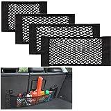 Yueser Kofferbak-organizer van netstof, 4 stuks, met sterke klittenbandstroken voor de auto, kofferbak, bagagenet (4 maten)