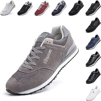 Scarpe Ginnastica Uomo da Sportive Scarpe da Running Sneaker Basse Donna Tennis Unisex Moda Sport Fitness Grigio 1 Taglia 41