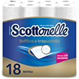 Scottex Scottonelle Carta Igienica Soffice e Trapuntata, Confezione da 18 Rotoli