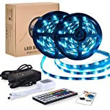 Tiras LED RGB 10m 12V | Tiras de Luces Led Lights - 300 leds 5050 Impermeable IP65 | Led Strip Con Mando y Trasformador | Dec