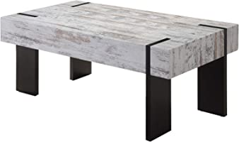 Jiwa Berani Ron Coffee Table, Black and Off White - 110H x 55W x 45D cm