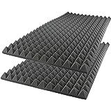 مجموعة الواح معالجة لامتصاص الصوت مصنوعة بتقنية الرغوة وبتصميم اهرامات لتكسو جدران الاستديوهات، من اي فوم بابعاد 50 × 50 × 7