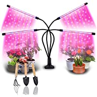 48 LEDs //4 Dimmable Levels Grow Light Bars for Gardening Greenhouse 2Pcs Strips Light Comyan LED Plant Grow Light Full Spectrum for Indoor Plants with Auto ON /& Off Timer