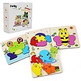 Felly Giochi Legno, Giochi Bambini da Puzzle in Legno, Educativo Giocattoli Giochi Montessori Set Regalo per 1 Anno 2 3…