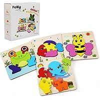 Felly Jouet Bébé - Puzzles en Bois, Jouets Montessori Enfant 1 2 3 4 Ans, Bebes Animaux Jeux Educatif Apprentissage…