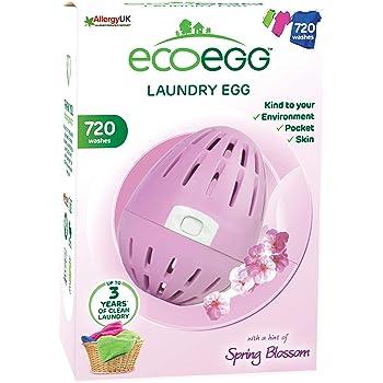 Ecoegg - Ovetto da bucato Ecologico con Sfere minerali all'Interno, Durevole per 720 lavaggi, profumato ai Fiori di Primavera