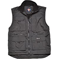Fortress Mens Multi Pocketed Bodywarmer Waistcoat Fleece Lined for Warmth Lincoln Vest Internal Wallet Pocket Two Lower…