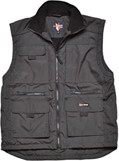 KEFITEVD Mens Winter Fleece Fishing Body Warmer Warm Windproof Gilet Outdoor Photography Vest with Multi Pockets