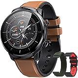 Hommie smartwatch Uomo,Orologio Uomo Smartwatch IP68, Orologio Fitness con 3 Diversi Cinghie, Smartwatch Touchscreen con Card
