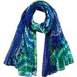 Desigual Fou_Galactic Hypnotic Moda Sciarpa, Blu, U Donna