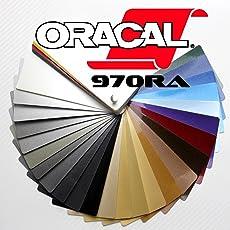 Oracal 970RA gegossene Glanz Profi Autofolie 152cm breit BLASENFREI mit Luftkanäle als Set mit passendem Verklebewerkzeug von Rapid Teck®