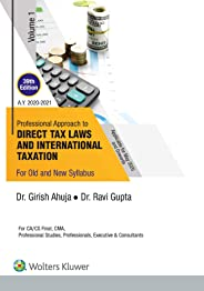 Professional Approach to Direct Tax Laws and International Taxation (Set of 2 Volume) Ca Final- Old & New Syllabus- Applicabl