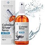 Spray Argent Colloïdal 100mL ● 100% Naturel 40 PPM ● Concentration Supérieure, Particules plus Petites : Meilleurs Résultats