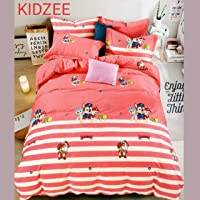 Cotton Double Bed Sheet for Kids Cartoon Print Attractive Colorful with 2 King Size Pillow Covers Set - Bed Sheet Size…