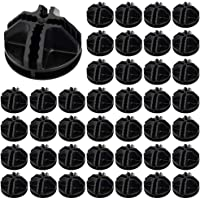 ManLee 40pcs Connecteurs en Plastique Cube de Rangement Noir Cube de Grille Connecteurs Raccord Meuble de Rangement…