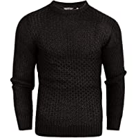 Crosshatch Mens Cotton Cable Knit Jumper Pullover Winter Sweater- 100% Cotton