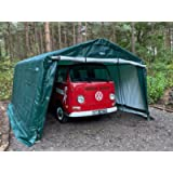 Clarke Heavy Duty Instant Portable Garage Carport – Medium - Green (6.1 x 3.0 x 2.4m)
