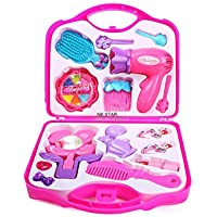 NK STAR Beauty Suitcase Pretend Play Toy Set Makeup Accessories Girl's Beauty Make Up Kit Toy Set Pink