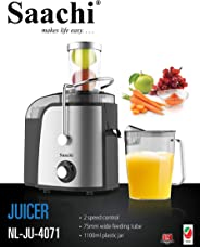 Saachi Electric Juice Extractor with Chute, Black/Grey, 75 mm, Nl-Ju-4071