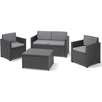 Amazon.de: Allibert Sitzgruppe Lounge Gartenmöbelset ...