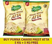 Purna Chakki Fresh Atta - 5 kg(Pack of 2)