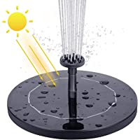 AISITIN Solar Fountain Pump 2.1 W Solar Water Pump Floating Solar Powered Fountain Kit with 6 Nozzles, for Bird Bath, Fish Ponds, Pond Pump, Garden Features