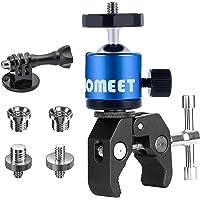 Homeet Super Morsetto Clamp con Teste Treppiedi Supporto Pinza Fotocamera Granchio Clip Rotazione a 360°con Filettature…