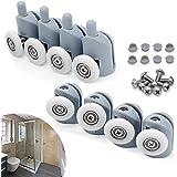 cococity 8 stuks douchecabine rollen douchedeurrollen 23 mm schuifdeur rollen geleiding douchedeur onderdelen glazen deurrol