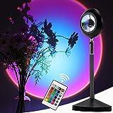 Moocuca Sunset Lamp, 16 kleuren verstelbare zonsondergang projectielamp met afstandsbediening, 360 graden draaiprojector, reg