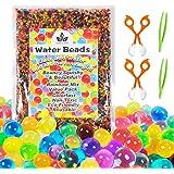 Ensemble de jouets de motricité fine avec perles de gel d'eau avec 2 cuillères et pinces à épiler pour le développement préco