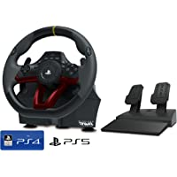 """Volante e pedali PS4/PS5 """"Wireless"""" con licenza Sony Playstation [nuovo modello]"""