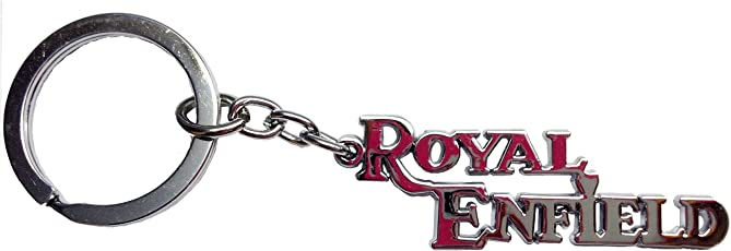 Discount4product Pure Metallic Royal Enfield Keychain