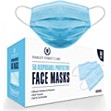 Harley Street Care Disposable Blue Face Masks Protective 3 Ply Breathable Triple Layer Mouth Cover with Elastic Earloops…