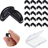 24 Pairs Adhesive Eye Glasses Nose Pads, D Shape Stick on Anti-Slip Soft Silicone, Adhesive Nose Pads Glasses Nose Pad…