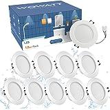 Wowatt 10X Spots LED Encastré IP44, 7W LED Spot Encastrable Salle de Bain 2800K Blanc Chaud 630LM Équivalent 70W Ampoule Halo