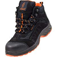 Urgent Leightweight Leather Men 's Boot Safety Work Boot with Steel Toe Cap 103 SB