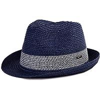 Siggi - Cappello da uomo e donna, stile vintage, con paglia e treccia, stile vintage, stile Panama, da spiaggia, viaggio…