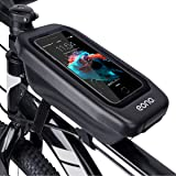 Amazon Brand - Eono Water Resistant Bike Frame Bag for Phone Quick-Open Front Tube Storage Bag with Large Capacity for Road B