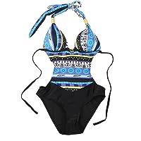 Costumi da Bagno Interi Donna Trikini Costume da Mare Spiaggia Piscina Sexy Bohemian in Pizzo Bikini Swimsuit One Piece…