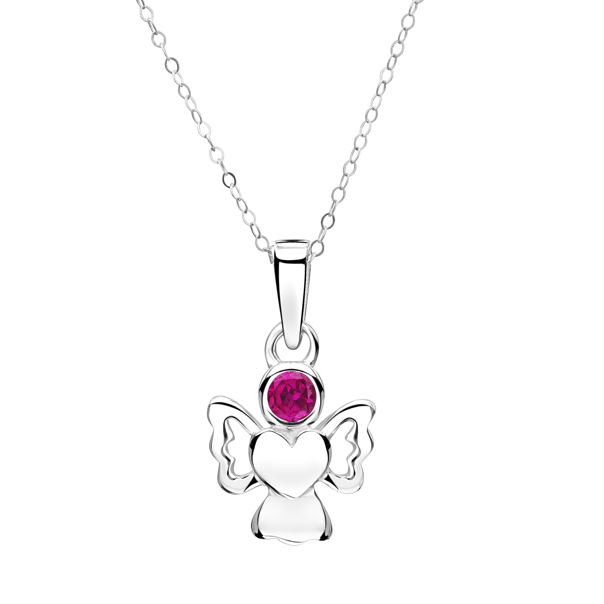 Jo for Girls – July Birthstone Angel – Simulated Ruby