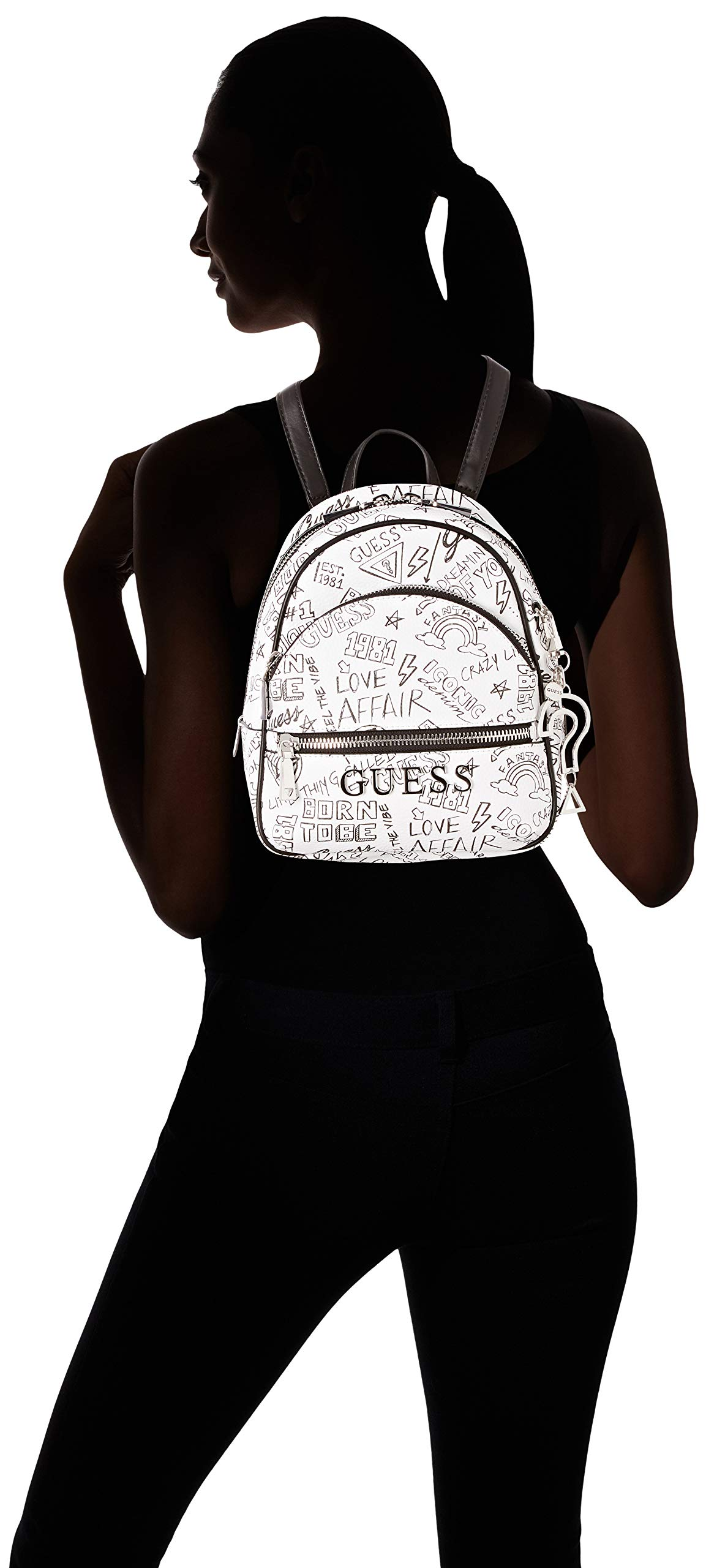 71Vl6cX88xL - Guess - Manhattan, Mochilas Mujer, Multicolor (Graffiti/Gft), 21x27.5x10 cm (W x H L)