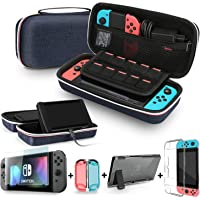 Bestico Kit di Accessori per Nintendo Switch, include una Custodia per il Trasporto da Viaggio, 1 pz Vetro Temperato…