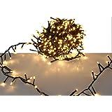 LED-ljuskedja – extra varm vit med minneschip och 8 funktioner – för inomhus/utomhusbruk 30 m – 1 500 LED