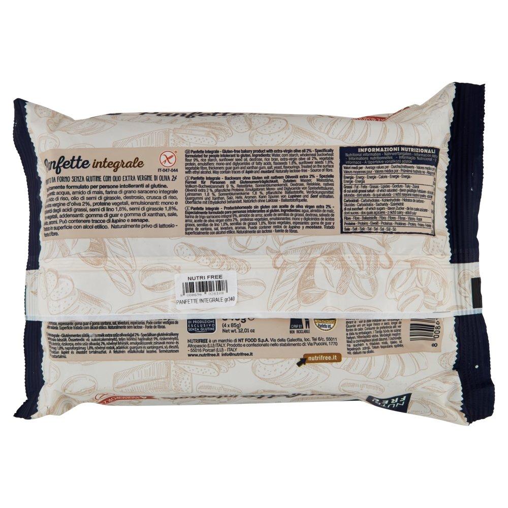 Nutri Free Panfette Integrale 3 Confezioni da 4 x 340 g